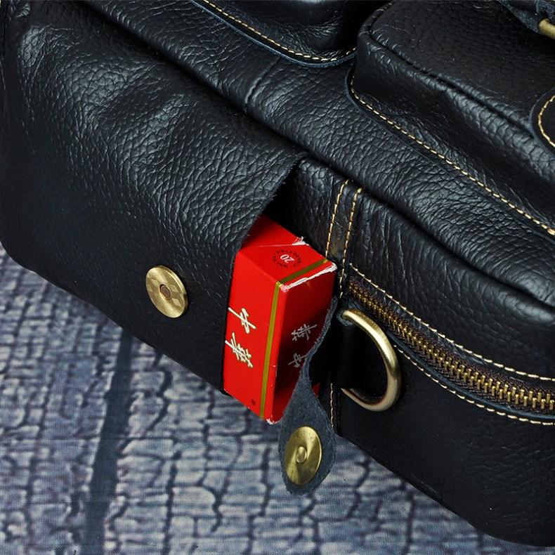 """7001533999 2068518898 Men Real Leather Antique Large Capacity Travel Briefcase Business 15.6"""" Laptop Case Attache Messenger Bag Portfolio 3061-b"""