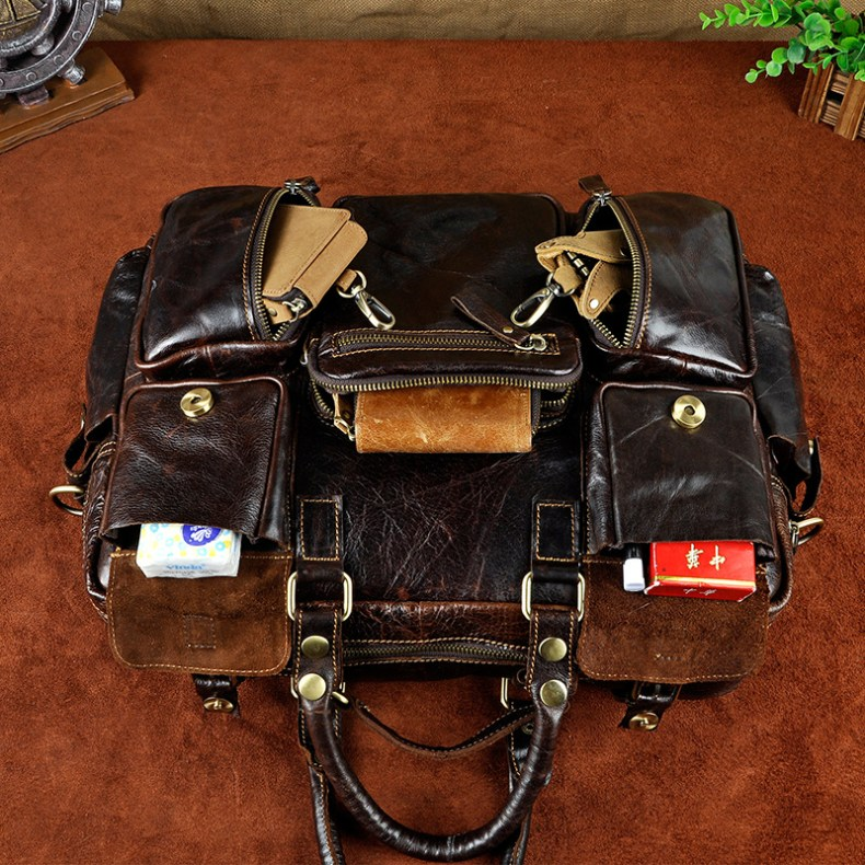 8429276931 2068518898 Original leather Men Fashion Handbag Business Briefcase Commercia Document Laptop Case Design Male Attache Portfolio Bag 3061-bu