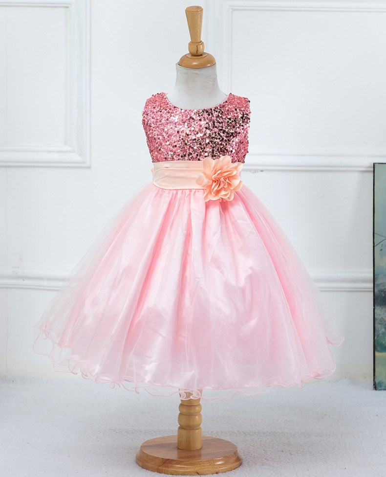 9339748591 1319078801 1-14 yrs teenagers Girls Dress Wedding Party Princess Christmas Dresse for girl Party Costume Kids Cotton Party girls Clothing