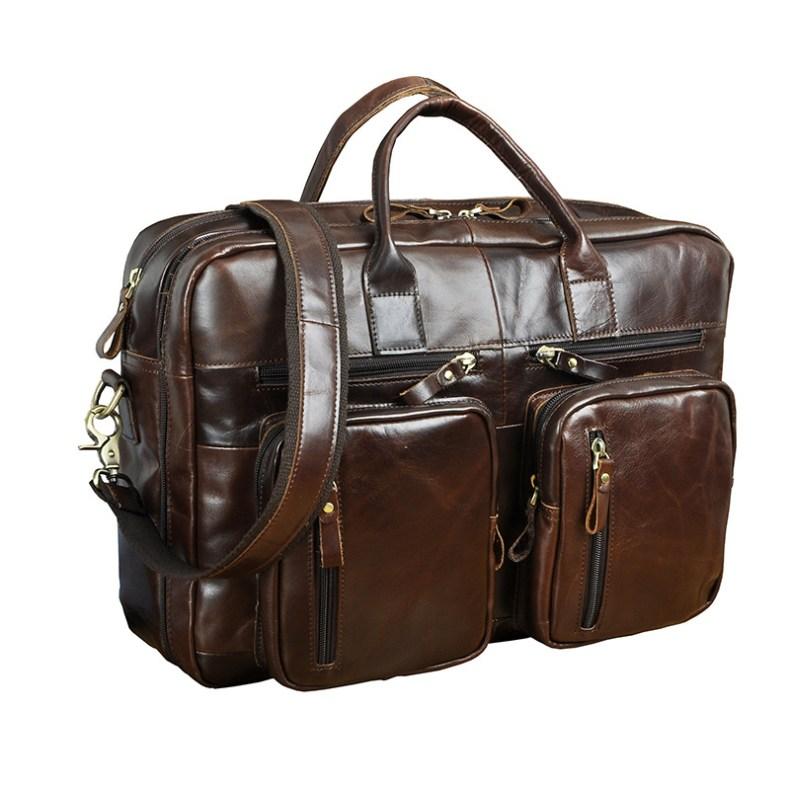 9179412222 2068518898 Men Oil Waxy Leather Antique Design Business Travel Briefcase Laptop Bag Fashion Attache Messenger Bag Tote Portfolio Male k1013