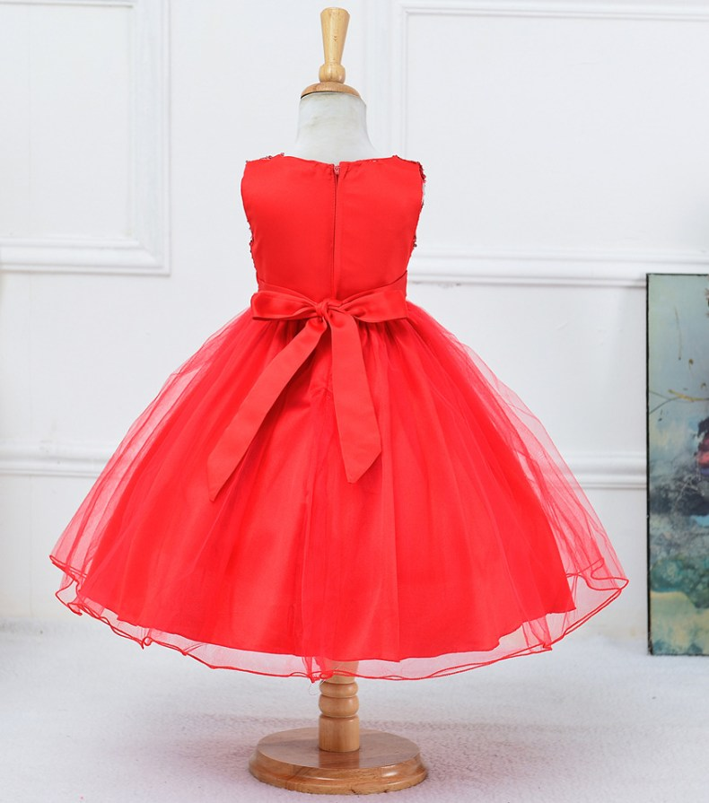 9315213325 1319078801 1-14 yrs teenagers Girls Dress Wedding Party Princess Christmas Dresse for girl Party Costume Kids Cotton Party girls Clothing