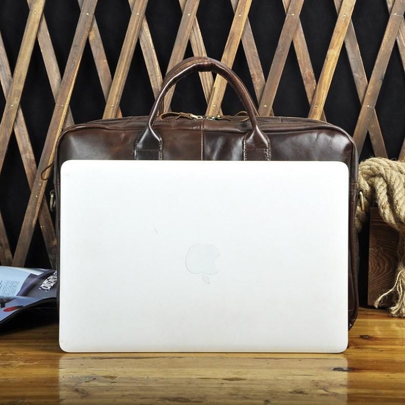 9179406456 2068518898 Men Oil Waxy Leather Antique Design Business Travel Briefcase Laptop Bag Fashion Attache Messenger Bag Tote Portfolio Male k1013