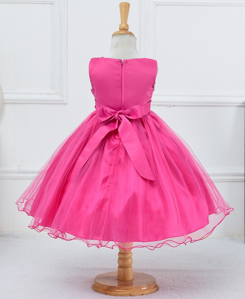 9315186956 1319078801 1-14 yrs teenagers Girls Dress Wedding Party Princess Christmas Dresse for girl Party Costume Kids Cotton Party girls Clothing