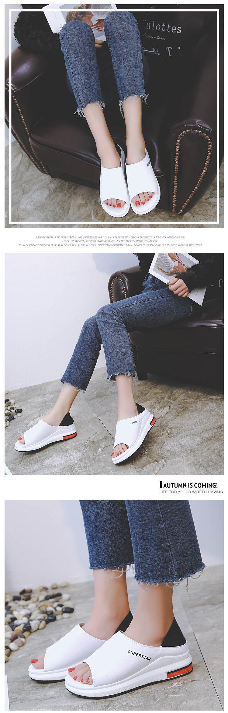 10460051418 19647336 Plus Size Summer Casual Flat Women Sandals Sport Fashion Mixed Colors Slip-On PU Leather Non-slip Platform Beach Women Shoes