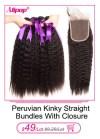 11928416418 580495426 Alipop Hair Straight Hair Bundles With Closure Peruvian Hair 3 Bundles With Closure Remy 100% Human Hair Bundles With Closure