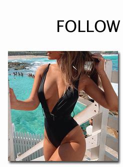 10906747929 1329338609 INGAGA Bikini 2019 One Shoulder Swimsuit Ruffle Swimwear Women Solid Women's Swimming Suit maillot de bain femme Sexy Biquini