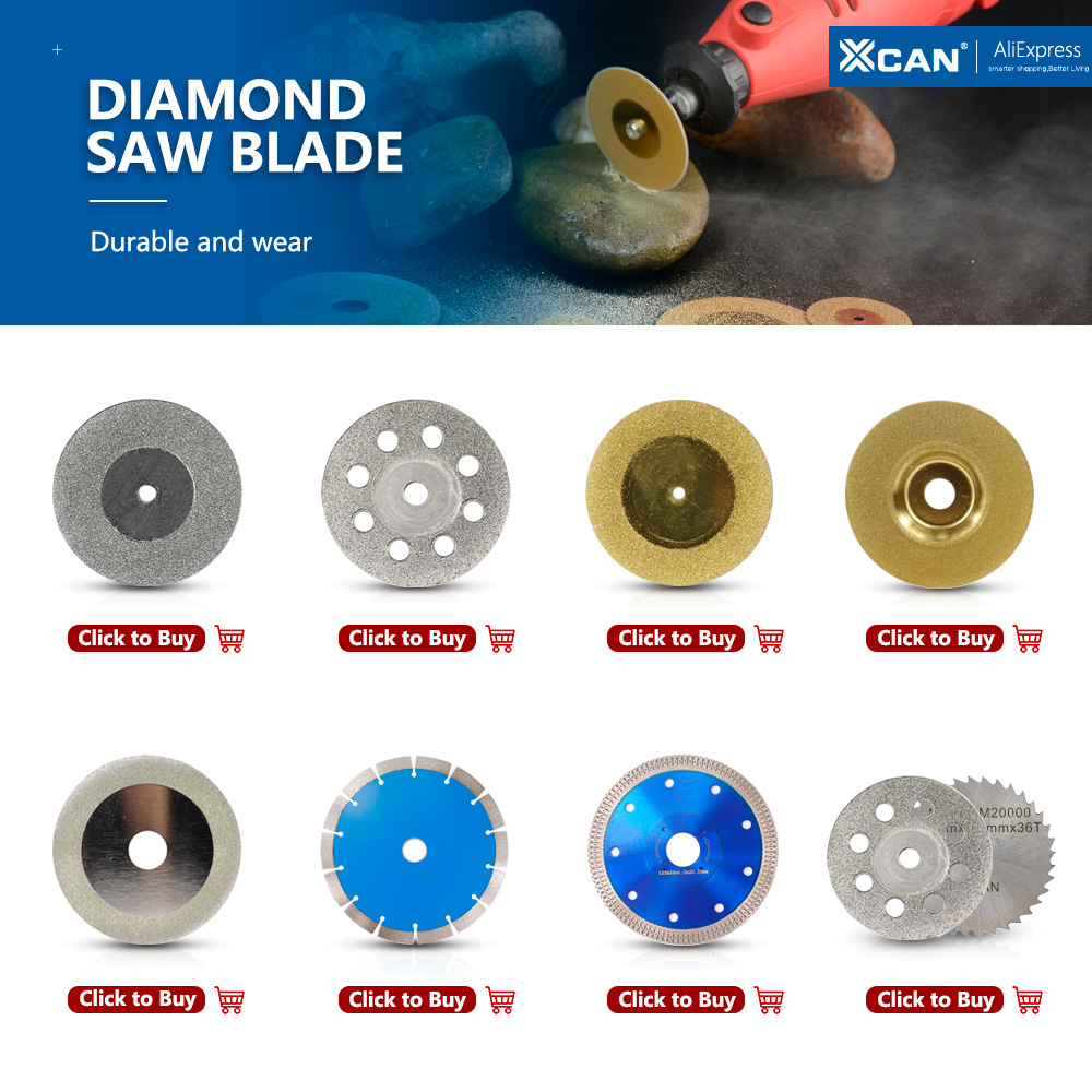 xcan diamond saw blade 35mm with 3mm mandrel for dremel rotary tool accessory cutting blades