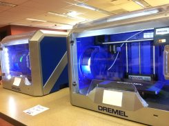 Two 3D printers, a gift from Friends of the Library