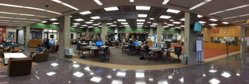 The main floor of the Mudd Center