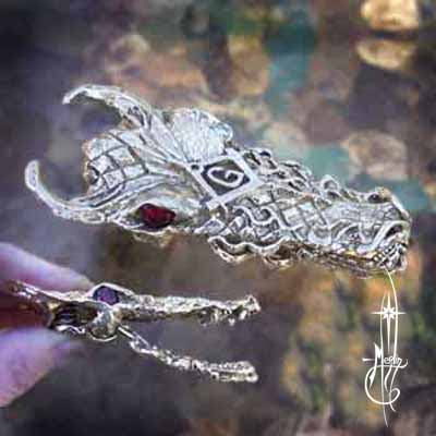 Custom Masonic Dragon Money Clip