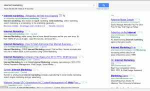 internet marketing search results