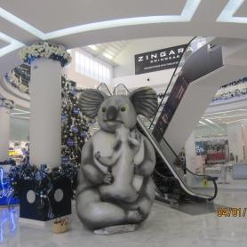 Inside view oft he Ahlbrook shopping center, the biggest one of Latin America