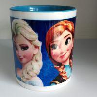 Hrnček farebný – Anna a Elsa