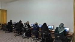 تم أجراء أختبار أمتحان كفاءة الحاسوب وكفاءة اللغة الأنكليزية  بتاريخ 16/1/2017