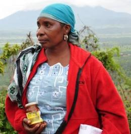 Rosalia Shemdoe, one of the participants in May's Farms of the Future learning exchange in Tanzania. Photo: C. Mungai