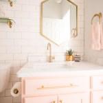 Modern Glam Blush Girls Bathroom Design Cc And Mike Design Blog