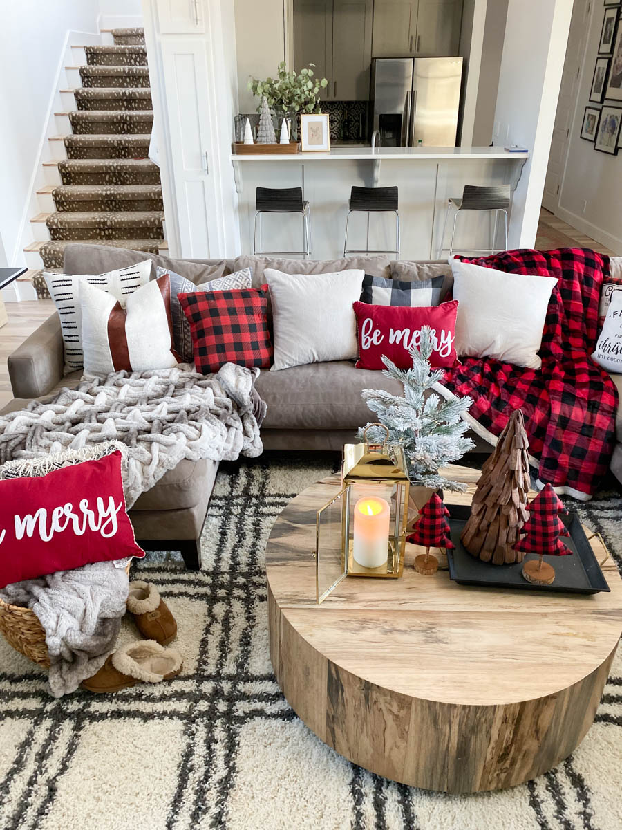 decor buffalo plaid pillows