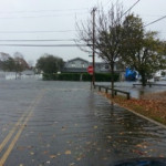 Flooding at Temple Sinai after Superstorm Sandy.