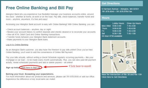 Abington Bank Enrollment