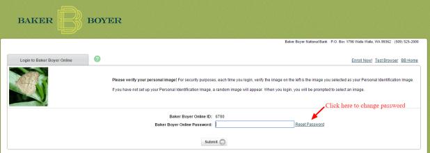 Baker Boyer change password