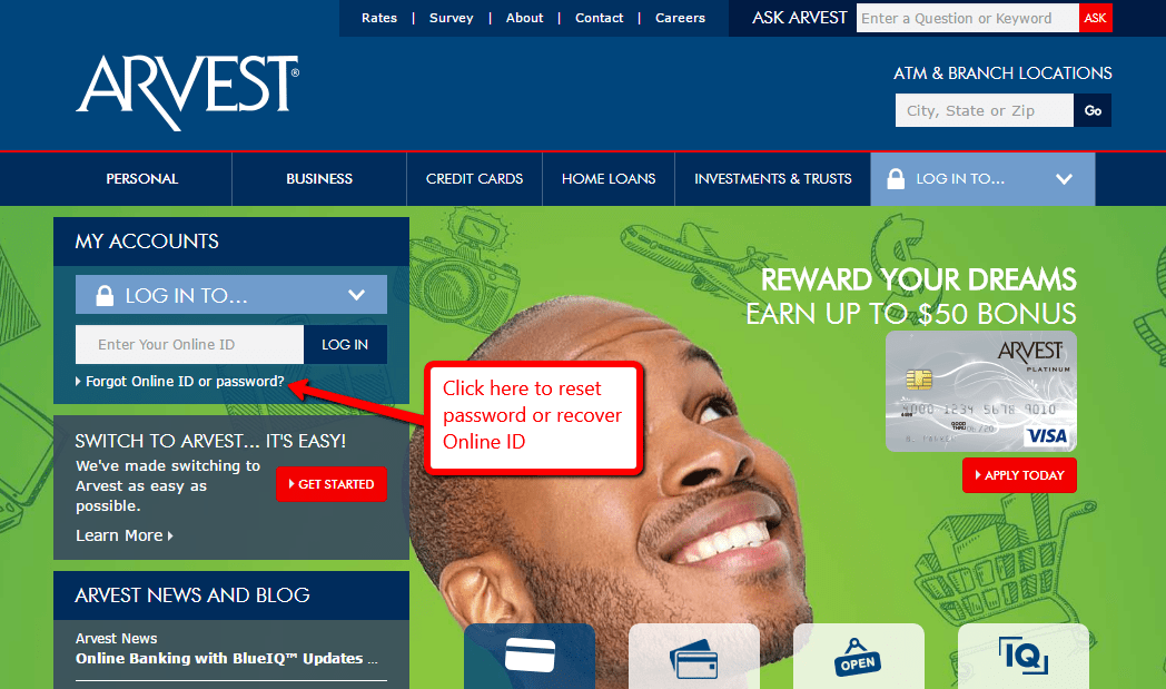 Arvest Online Personal Banking