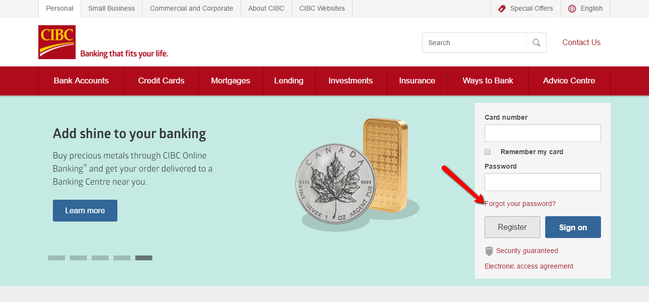 Cibc Online Banking Access Personal Accounts