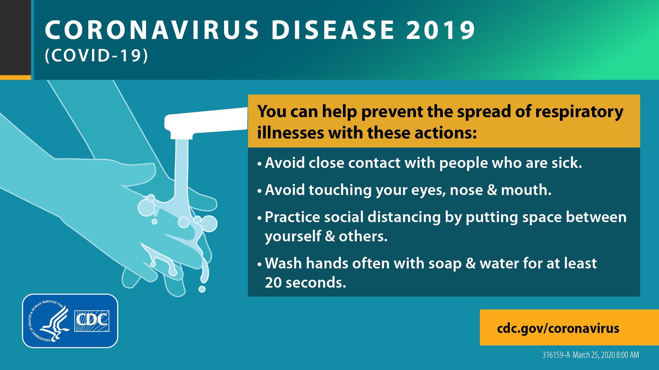 prevent illness spread graphic from cdc