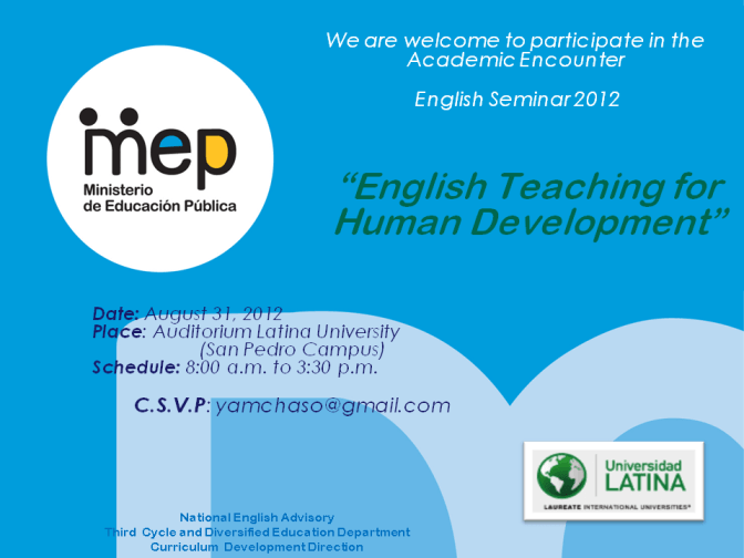 Digital invitation LEB SEMINAR 2012