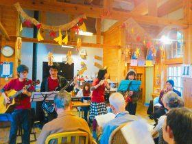 【チャレンジファンド】11月11日 デイサービスセンターゴジカラ村にて演奏