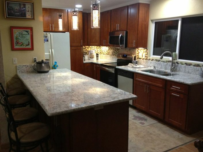 Light Cherry CampC Cabinets And Granite