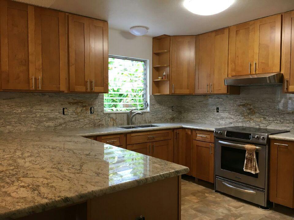 Wheat Maple C Amp C Cabinets And Granite