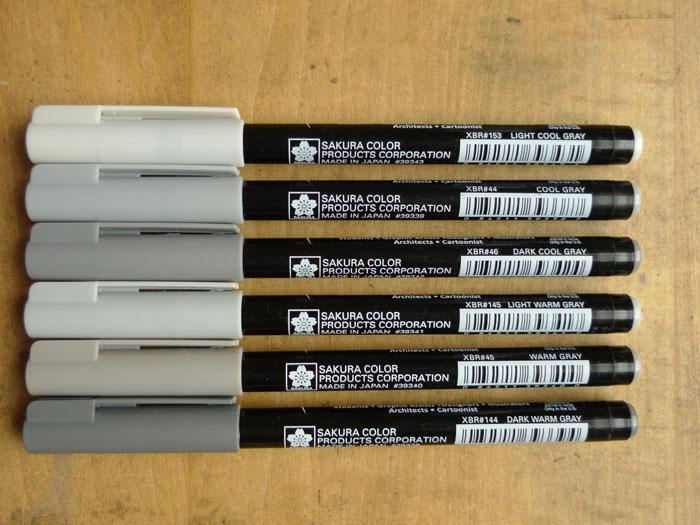 Sakura Koi Color Brush Pen Dark Cool Grey