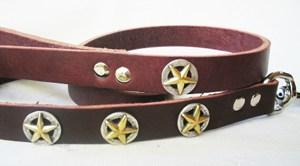 CCC Western Leather Dog Collars - Deputy Dawg Leash