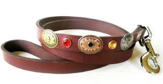 CCC Western Leather Dog Collars - Hidalgo Leash