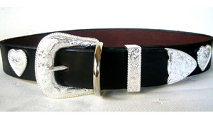 CCC Western Leather Dog Collars - Rodeo Rover Sweetheart