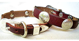 CCC Western Leather Dog Collars - Speedy Bronco Baby