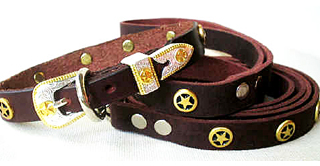 CCC Western Leather Dog Collars - Speedy