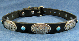 Leather Dog Collars at CCC - Zorro Designer Collection Oblong1.0