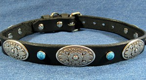 CCC Western Leather Dog Collars - Zorro Oblong