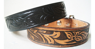 CCC Western Leather Dog Collars