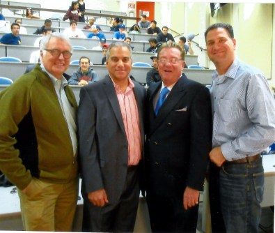 Prof. Greg Arend, Ari Mendrinos, Prof. Jack Mandel and Prof. Michael Stallone.