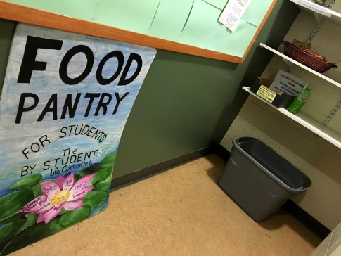 A food pantry at Columbia-Greene Community College.