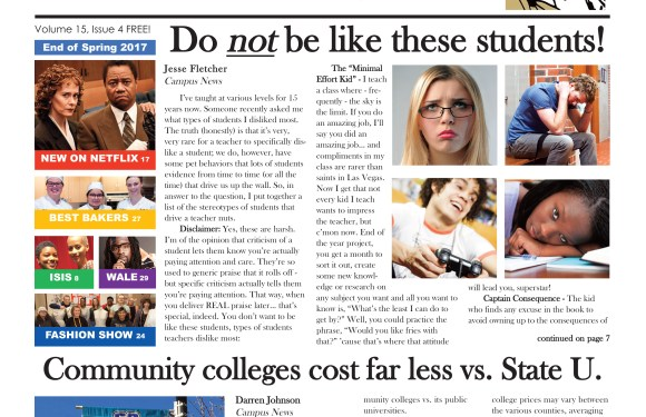 COVER STORY: Whatever you do — do NOT copy these students!