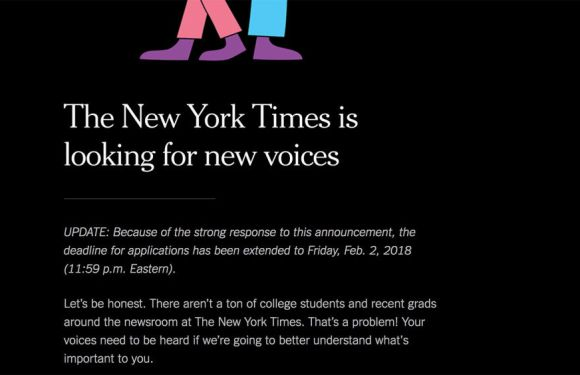 From college student to The New York Times