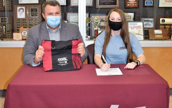 CCCTC Senior, Zoe McGonigal, Signs Letter of Intent during Career & Technical Letter of Intent Virtual Signing Day