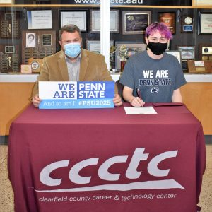 CCCTC Senior, Ethan Watt, Signs Letter of Intent during Career & Technical Letter of Intent Virtual Signing Day