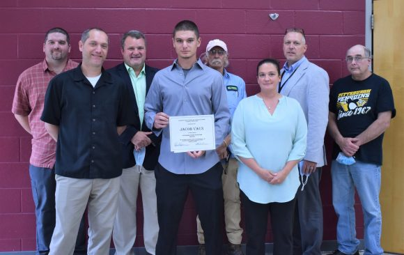 Jacob Vaux is Selected as CCCTC Outstanding Student for the 2020-2021 School Year