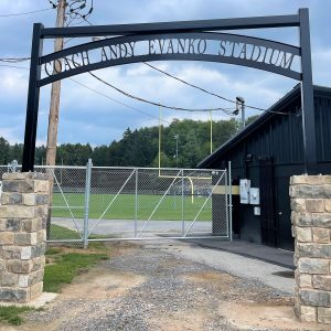 CCCTC Partners with Curwensville Area School to Create New Entryway to Andy Evanko Stadium