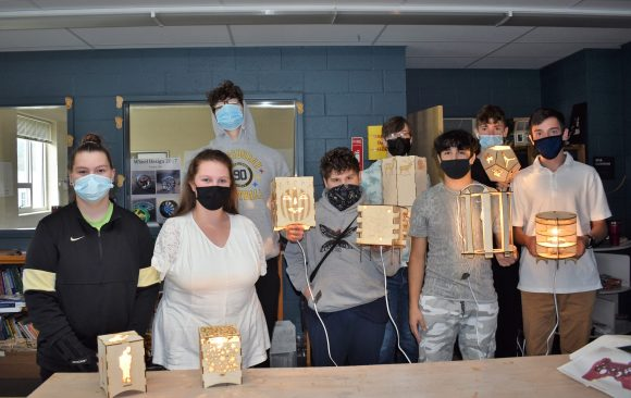 CCCTC Drafting and Design Students Create Light Boxes