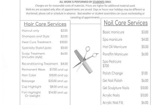 The CCCTC Cosmetology Clinic to Open October 20th